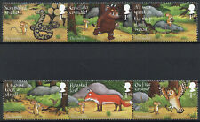 GB Gruffalo Stamps 2019 MNH Foxes Owls Snakes Nature Cartoons 2x 3v Strip
