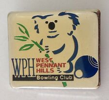 West Pennant Hills Bowling Club Badge Pin Vintage Lawn Bowls (L26)