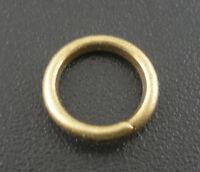 200Stk. Antikbronze Ösen Bindering offen Ringe 8x1.2mm