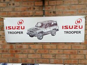 Isuzu Trooper Grande PVC Resistente Trabajo Tienda Bandera