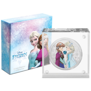 2020 DISNEY PRINCESS WITH GEMSTONE | FROZEN SISTERS FOREVER | 1 OZ. SILVER COIN