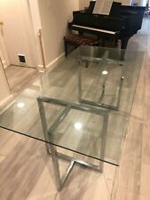 "Cb2 Dining Table - Silverado 72"" Chrome rectangular"