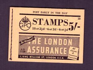 BD25 George VI 5/- Skeleton booklet. Edition 13. 15 stamps remaining.