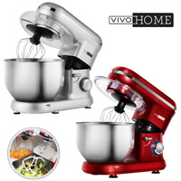 VIVOHOME Electric 650W 6-Speed Tilt-Head Food Stand Mixer Blender Stainless Bowl