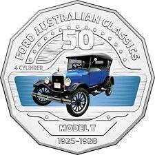 2017 Australia 50c Coloured Unc Coin- 1926 Model T Tourer Coupe Classic FORD Car