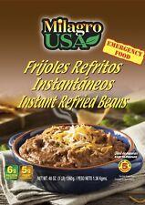 emergency food Instant Refried Beans 39 Servings Per Bag Just Add Hot Water