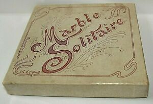 Marbles: Solitare Board Game From The Sears Catalog in Early 1900's