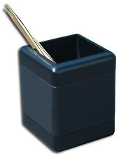 Brand New! Great Gift Idea! Dacasso Blackwood & Genuine Leather Pencil Cup