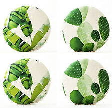 "4-Pack Round Pillow Cover w/ 18"" Diameter, Home Decor (Insert Not Include)"