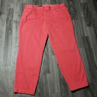 J Crew Womens Size 10 Scout Pink Coral Cropped Pants