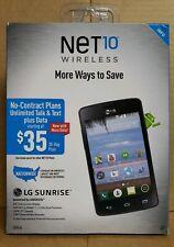 BRAND NEW Net10 LG Sunrise Android Smartphone