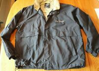 Men's Charles River Wind breaker Jacket Navy Blue Large Zip Up THE TOWERS