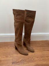 MICHAEL MICHAEL KORS Regina Brown Camel suede knee High boots UK 6