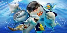 Ocean Selfie Dolphin Killer Whale Turtle Pool Bath Beach Souvenir Cotton Towel