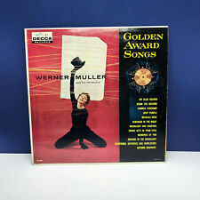 "Vinyl Record LP 12 inch 12"" case vtg 33 Golden Award songs Werner Muller decca"