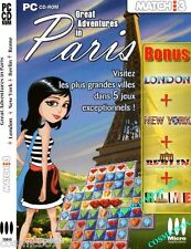 Jeu de réflexion pour PC : GREAT ADVENTURES in PARIS LONDON NEW YORK ROME BERLIN