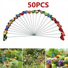 50Pcs Garden Butterflies Stakes Garden Ornaments Luminous Party Yard Patio Decor