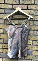 Size 14 Red Herring Shimmery Brown & Green Tailored Top