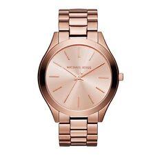 Michael Kors mujer Delgado Runway tono oro Rosa reloj de Diseño Mk3205