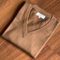 Men's V-neck Cashmere Sweater - Nepalese Handmade 100% Pashmina Jumper Pullover