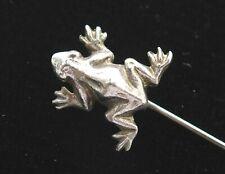 Vintage Frog Stick Pin Hat Lapel Signed Gorham Sterling Silver 925 Figural