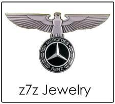 MERCEDES BENZ Badge - logo auto emblem w/ german roman eagle pin tie tack z7qq