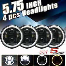 "4pc 90W 5.75 5-3/4"" LED Projector Headlight for Chevy Corvette Peterbilt 389 359"