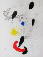 MIRO - BARBARIC DANCE  - LISTED LITHOGRAPH - 1963 - FREE SHIP IN THE US !!!