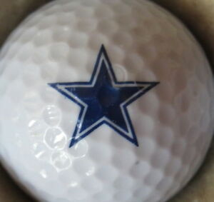 1 Dozen (Dallas Cowboys Star NFL LOGO) Callaway Chrome Soft Mint Golf Balls