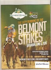 MINT TRIPLE CROWN WINNER AMERICAN PHAROAH 2015 BELMONT STAKES PROGRAM