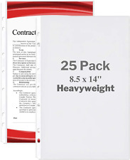 Dunwell Legal Size Sheet Protector Heavyweight 25 Pack 85x14 Legal Paper