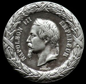 Médaille NAPOLEON III 1859 - CAMPAGNE D'ITALIE - FRANCE Argent / Silver medal