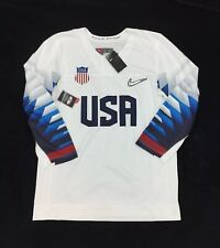 NEW Nike Team USA Replica White Blue Olympic Mens Hockey Jersey P34235 National