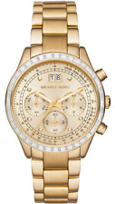 Michael Kors MK6187 Brinkley Chronograph Gold-tone Stainless Steel Ladies Watch
