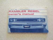 Original 1967 American Motors Rambler Rebel automobile owner's manual
