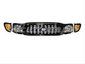 FOR Toyota 2001-2004 Tacoma Grille Black Headlight Park Light 5Pcs
