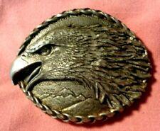 Vintage Eagle Belt Buckle Ege 1993 Usa Pewter Embossed metal art