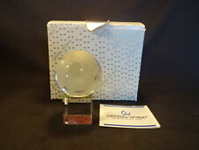 Crystal World Earth Globe On Stand Desk Ornament In Original Box