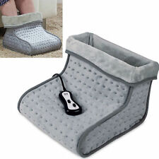 Heated Foot Warmer Massager Electric Vibration Fleece Lining Relaxing Xmas Gift