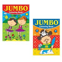 2 x A4 150 PAGE  JUMBO CHILDREN'S COLOURING BOOKS BOOK FUN PICTURES LEARNING 1&2
