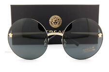 Brand New VERSACE Sunglasses VE 2176 1252 87 Gold/Solid Gray For Women