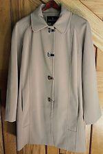 London Fog Women's Coat Beige 100% Polyester Long Sleeve Hook Closure Size S