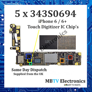 5 x 343S0694 - iPhone 6 / 6+ / 6 Plus Touch Controller Digitizer IC Chip - U2402