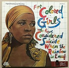Broadway Cast Recording - For Colored Girls Who Have Considered Suicide When....