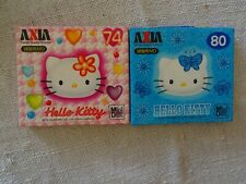 2 Brand New AXIA Hello Kitty MD74+MD80 Minidisc - Factory sealed