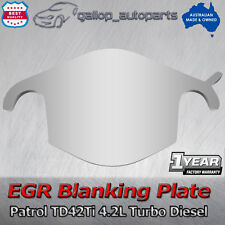 EGR Blanking Block Plate for Nissan Patrol TD42 Ti 4.2L Turbo Diesel Stainless
