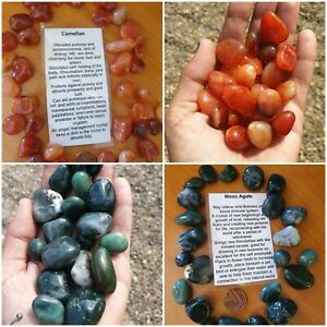 Crystal Tumble Stones Various available - buy 4 get one free Quartz, Agate etc..
