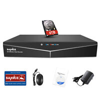 SANNCE 1080N 5in1 4CH CCTV DVR Video Recorder for Security Camera System 0-4TB