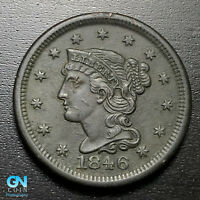 1846 Braided Hair Large Cent --  MAKE US AN OFFER!  #P6855