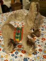 Vintage Mohair Laughing Donkey Stuffed Animal Toy With Saddle Anker ? German ?